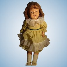 Vintage Composition Shirley Temple Type Doll