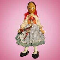 Vintage Poland Wooden Doll