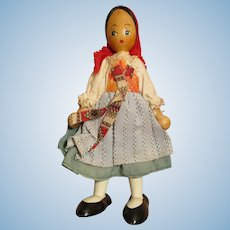Vintage Poland Wooden Doll