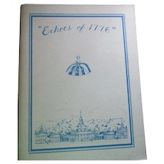 Echoes of 1776 United Federation Of Doll Club Book By Letitia Penn Doll Club.