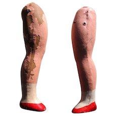 Vintage Composition Doll Legs