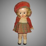 Vintage Reliable Composition Doll In Original Outfit
