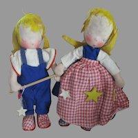 Vintage German Cloth Angel Dolls