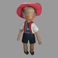 Vintage Wooden Doll