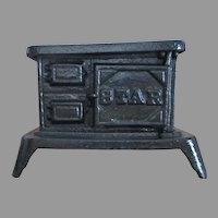 Vintage Cast Iron Miniature Doll Stove For Your Doll House