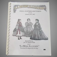 "LA Mode Illustree -Doll Clothes Patterns. Special Edition For !2"" Fashion Dolls"