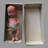 Vintage Bisque Baby Doll In Original Box