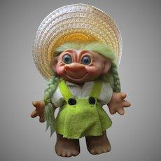 Vintage Wishnik Troll Doll Bank