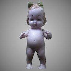 German Pink Color Bisque Doll