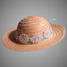 Vintage Straw Type hat For Your Doll