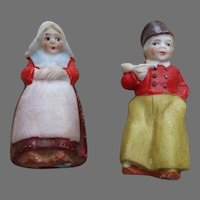 Two German Bisque Dutch Type Dolls