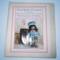 Tres Belle Poupee Doll Fashions Pattern Doll Clothes Book