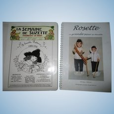 Bleuette 1905-1916 Clothes Pattern Book & Rosette Book.