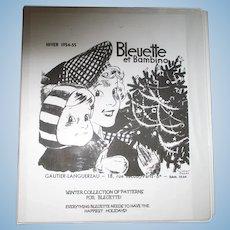 Bleuette 1905-1959 Clothes Pattern Book.