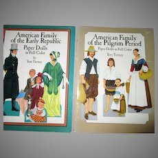 Two Vintage Paper Dolls Books By Tom Tierney