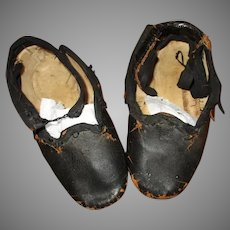 Antique Child or Dolls Leather Shoes