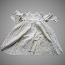 Antique Cotton Baby Dress For Your Doll