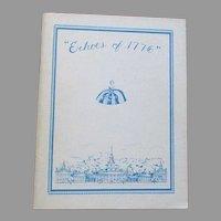 Echoes of 1776 United Federation Of Doll Club Book By Letitia Penn Doll Club.