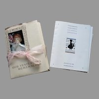 Our Yesterday Remembered Book Folder and United Federation OF Doll Clubs 41st Annual Convention Book Folder