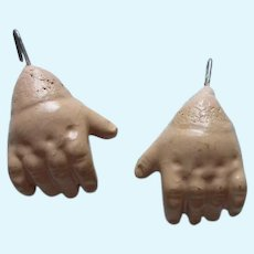 Pair Of Composition Doll Hands