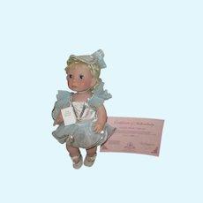 Vintage Lee Middleton Angel Kisses Doll Signed and numbered.