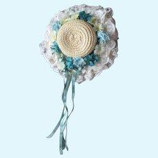 Vintage Doll Straw Hat
