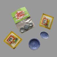 Vintage Miniature Doll House Items In There Original Package.