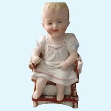Antique German Bisque Doll Figure.