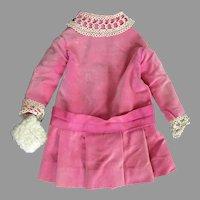 Vintage Velor Homemade Doll Dress