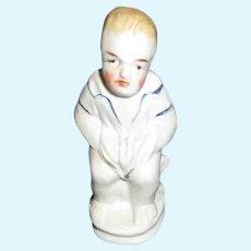 Antique German Bisque Doll Figure.