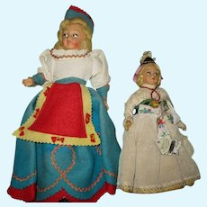 Two Vintage Dolls From Italy.