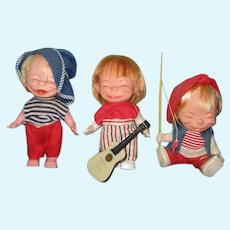 3 Vintage Dolls Made in Hong Kong