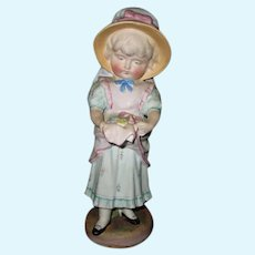 Antique Bisque Doll Figure