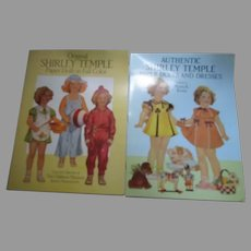 Two Vintage Books Shirley Temple Paper Doll Books