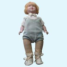 Vintage Artist Bisque Head and Felt Body Doll