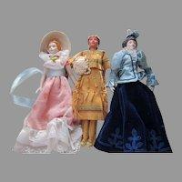 3 Vintage Doll House Dolls