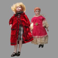 2 Vintage Doll House Dolls