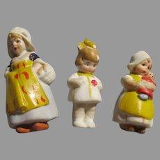 3 Small German Dolls