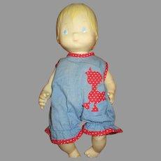 Vintage Hallmark Baby Doll In Original Outfit 1977