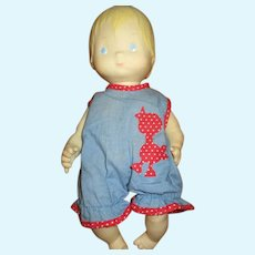 Vintage Hallmark Baby Doll In Original Outfit 1977