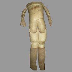 Antique Sawdust Leather Doll Body