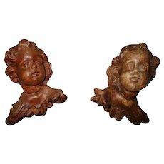 Vintage Berger Handmade In Austria Christmas Angel Heads