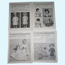 Costume Quarterly For Doll Collectors Volume 7 Number 1-4  Doll Clothes Patterns