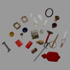 Vintage Miniature Dollhouse Items.