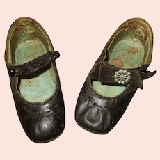 Old Child's Leather Shoes.