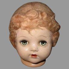 Vintage Composition Doll Head.