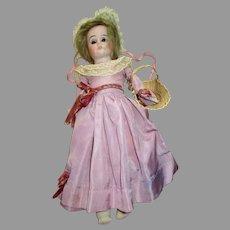 Antique German Heubach Bisque Doll Kid Body 1901-12/0