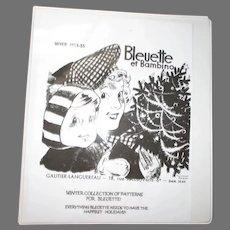 Vintage Bleuette Doll Clothes Pattern Book