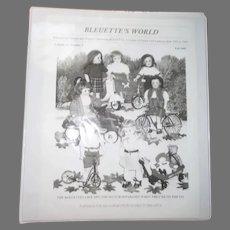 Vintage Bleuette's Doll Clothes Pattern Book