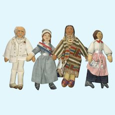 Vintage Hallmark Famous Series Cloth Dolls.